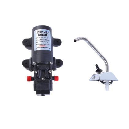4.3Lpm Self-Priming Pump With 12V Electric Tap Facuet For Caravan Boat