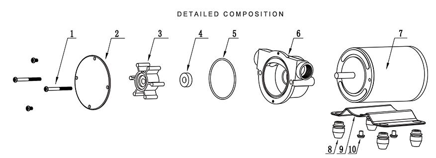 sailflo dc electric flexible impeller water pump