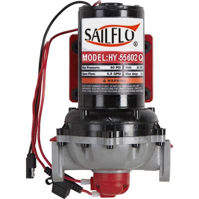 Sailflo HY-5560Q  5.5GPM 60 PSI  Quick-Connect Ports Diaphragm Pumps