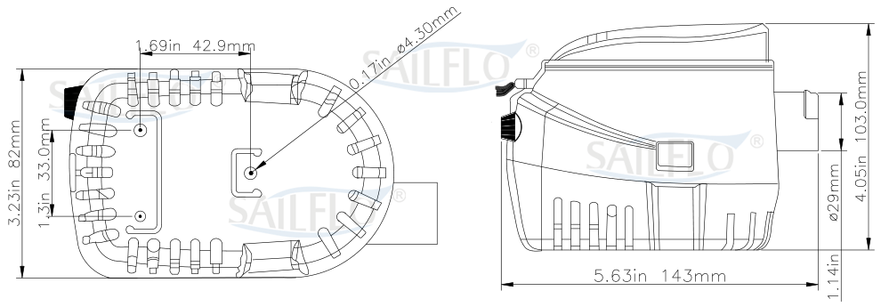 sailflo 1100gph automatic bilge pump