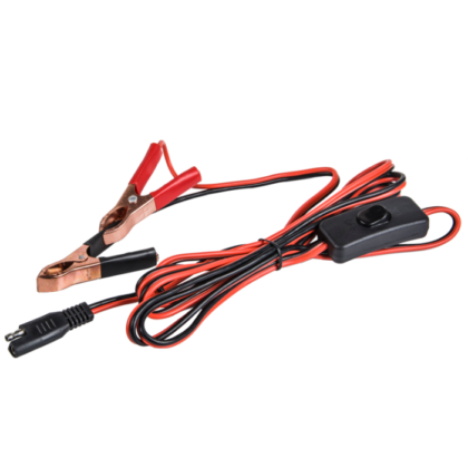 Battery  Alligator Clip Wiring Harness  with Switch